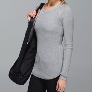 Lululemon Cabin Yogi Long Sleeve Sweater in Grey